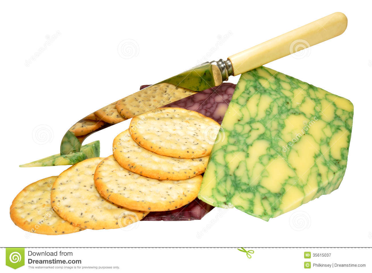 Sage And Port Wine Derby Cheeses Royalty Free Stock Photos.