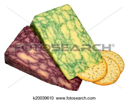 Stock Photography of Sage And Port Wine Derby Cheeses k20039610.