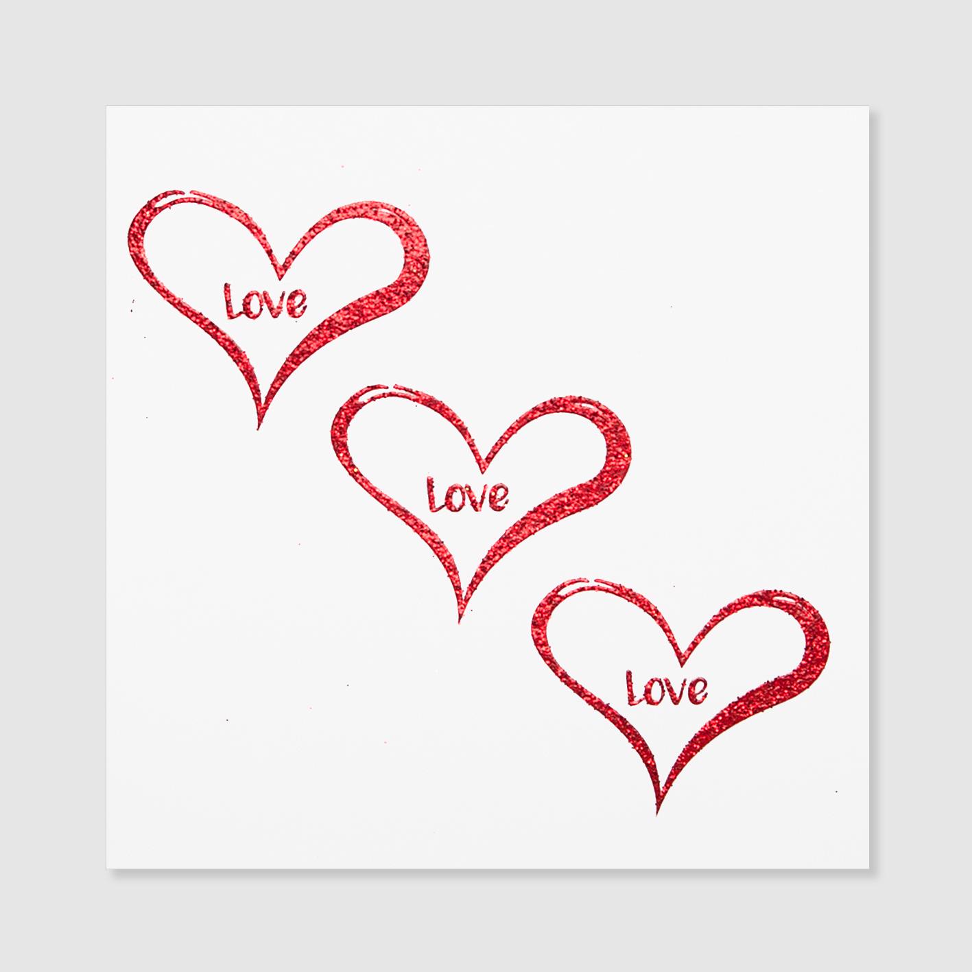Love Love Love (Pack of 6).