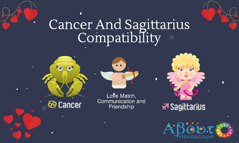 Cancer ♋ and Sagittarius ♐ Compatibility, Love & Friendship.