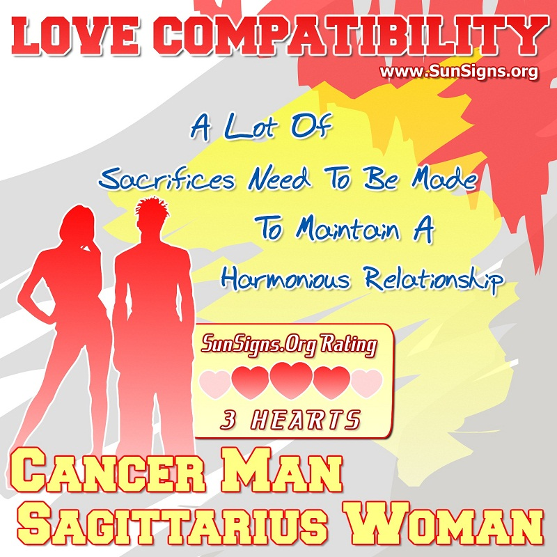 Cancer Man And Sagittarius Woman Love Compatibility.