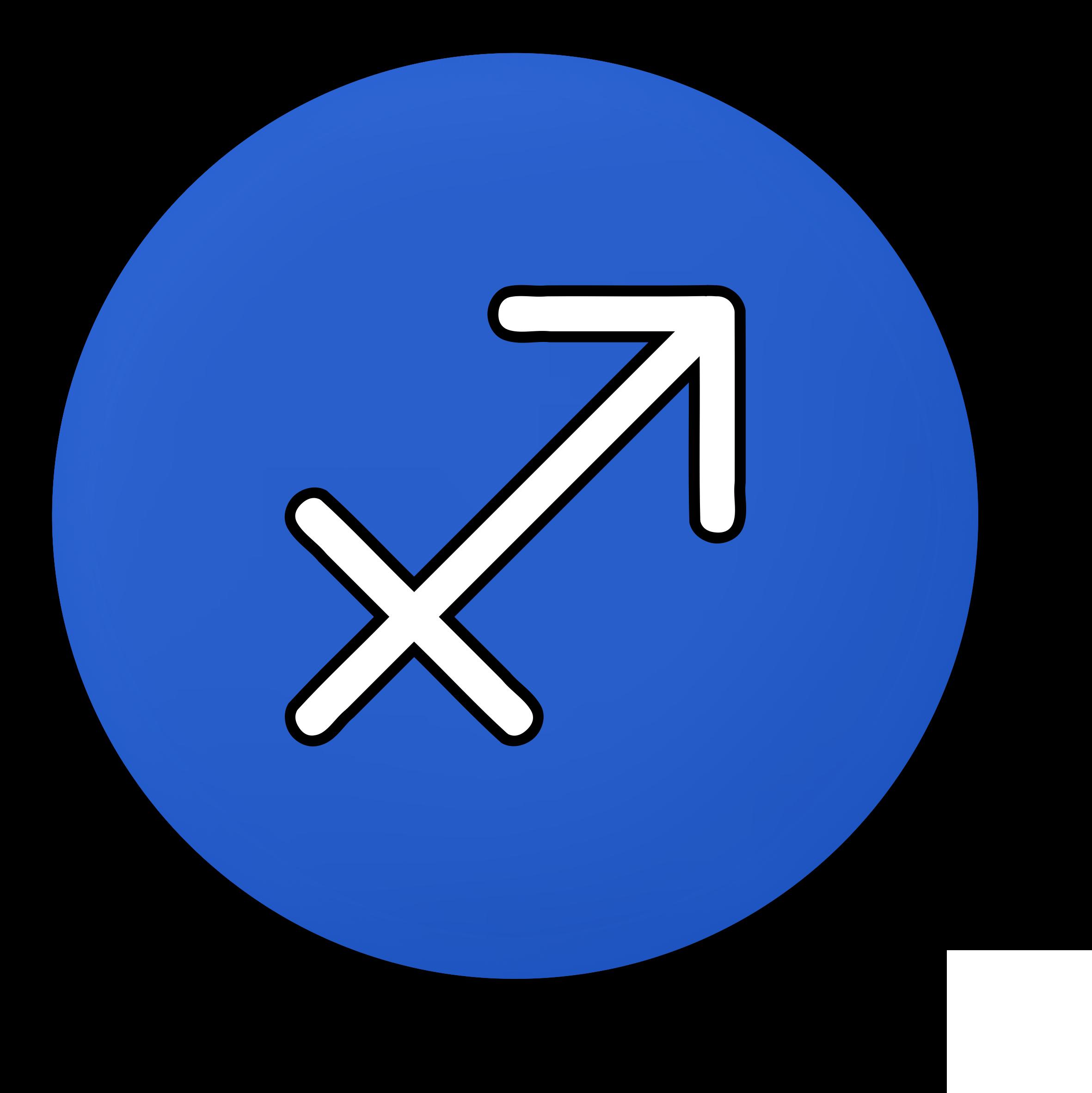 Sagittarius symbol Vector Clipart image.