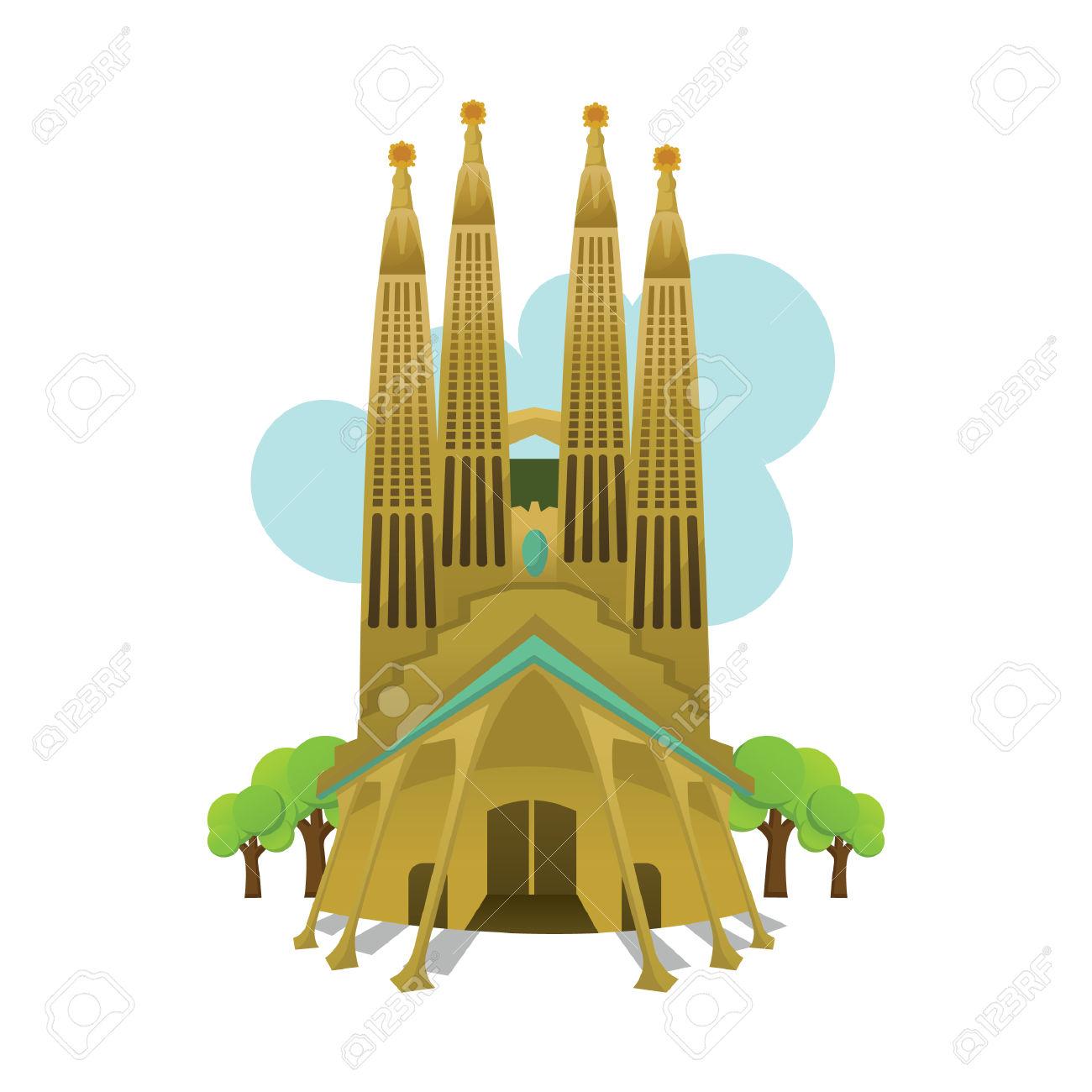 Sagrada Familia Clipart.