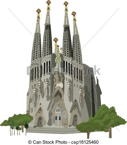 Sagrada familia Vector Clip Art Illustrations. 99 Sagrada familia.