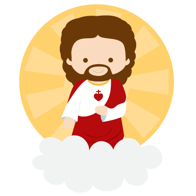 Jesus character SVG file and clipart.