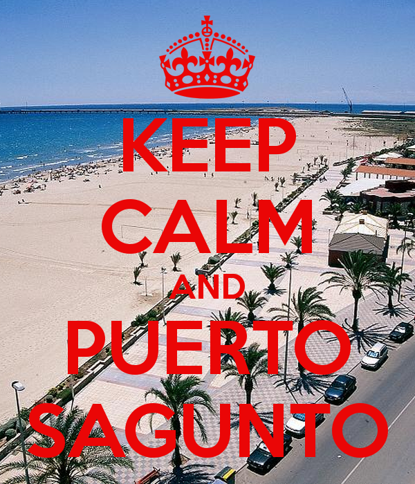 KEEP CALM AND PUERTO SAGUNTO Poster.