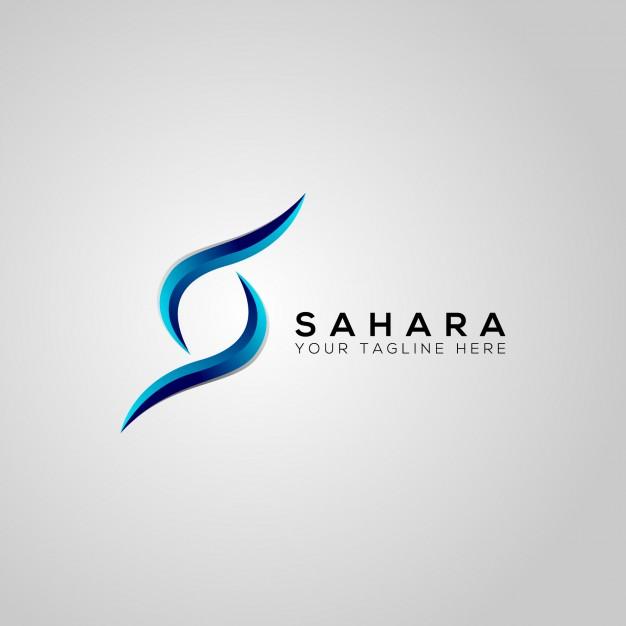 Sahara s letter vector logo design Vector.
