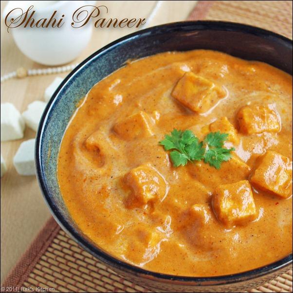 Shahi paneer recipe.