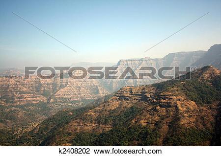 Stock Photo of Sahyadri Mountains Background k2408202.