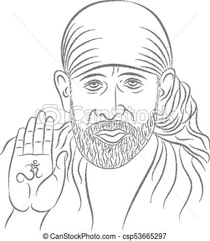 Sai Baba Stipple Effect.