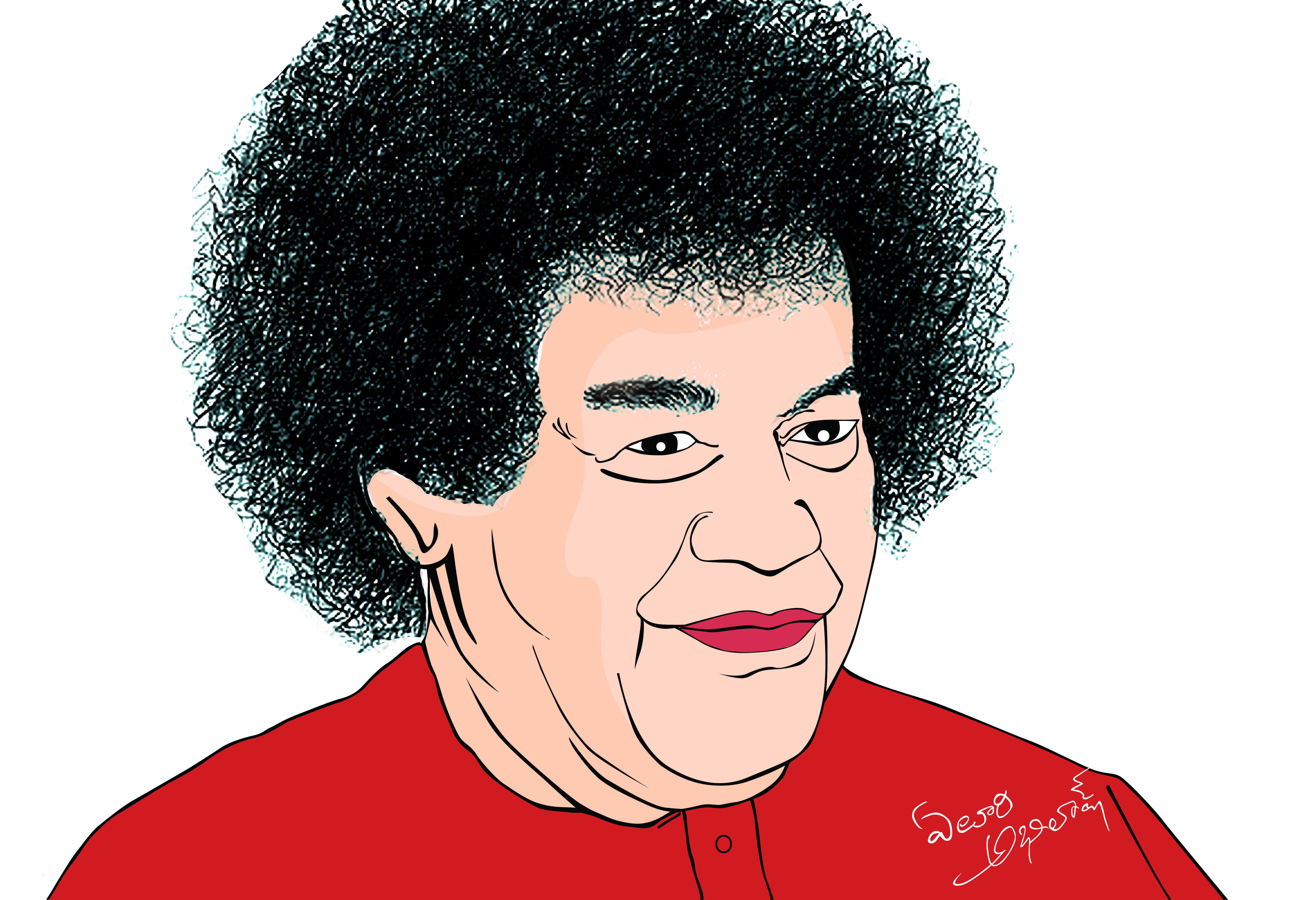 Sathya Sai Baba.