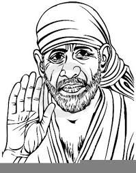Image result for sai baba logo black and white clip art in.