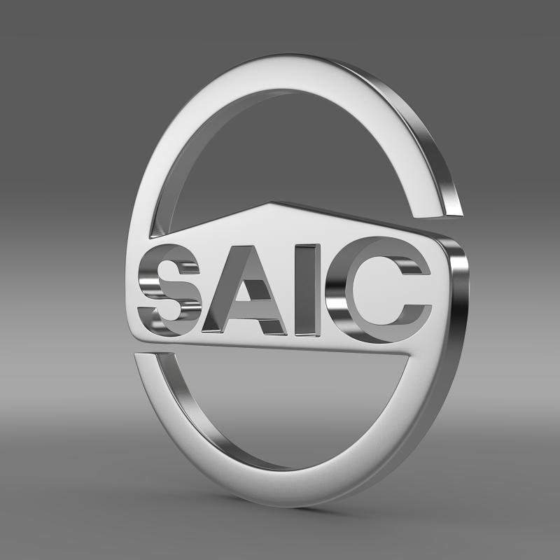 SAIC logo 3D Model in Parts of auto 3DExport.