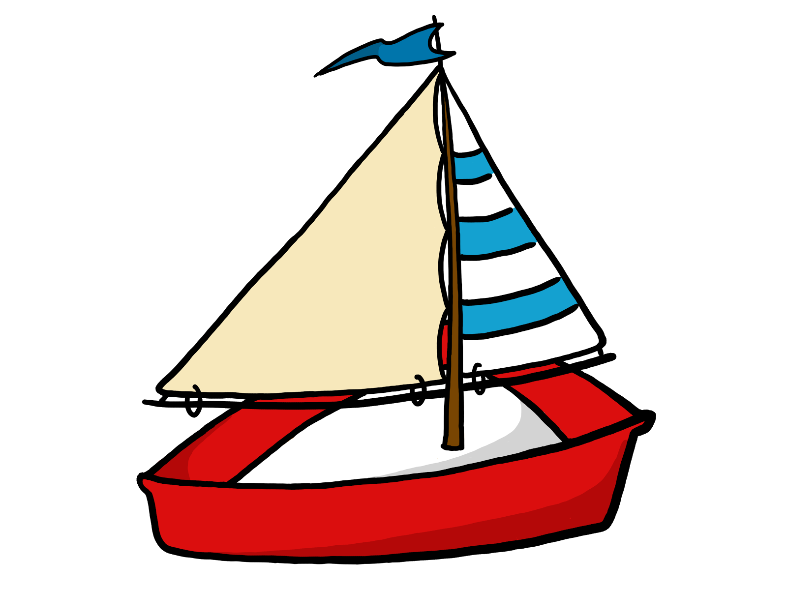 Fishing boat clipart black white