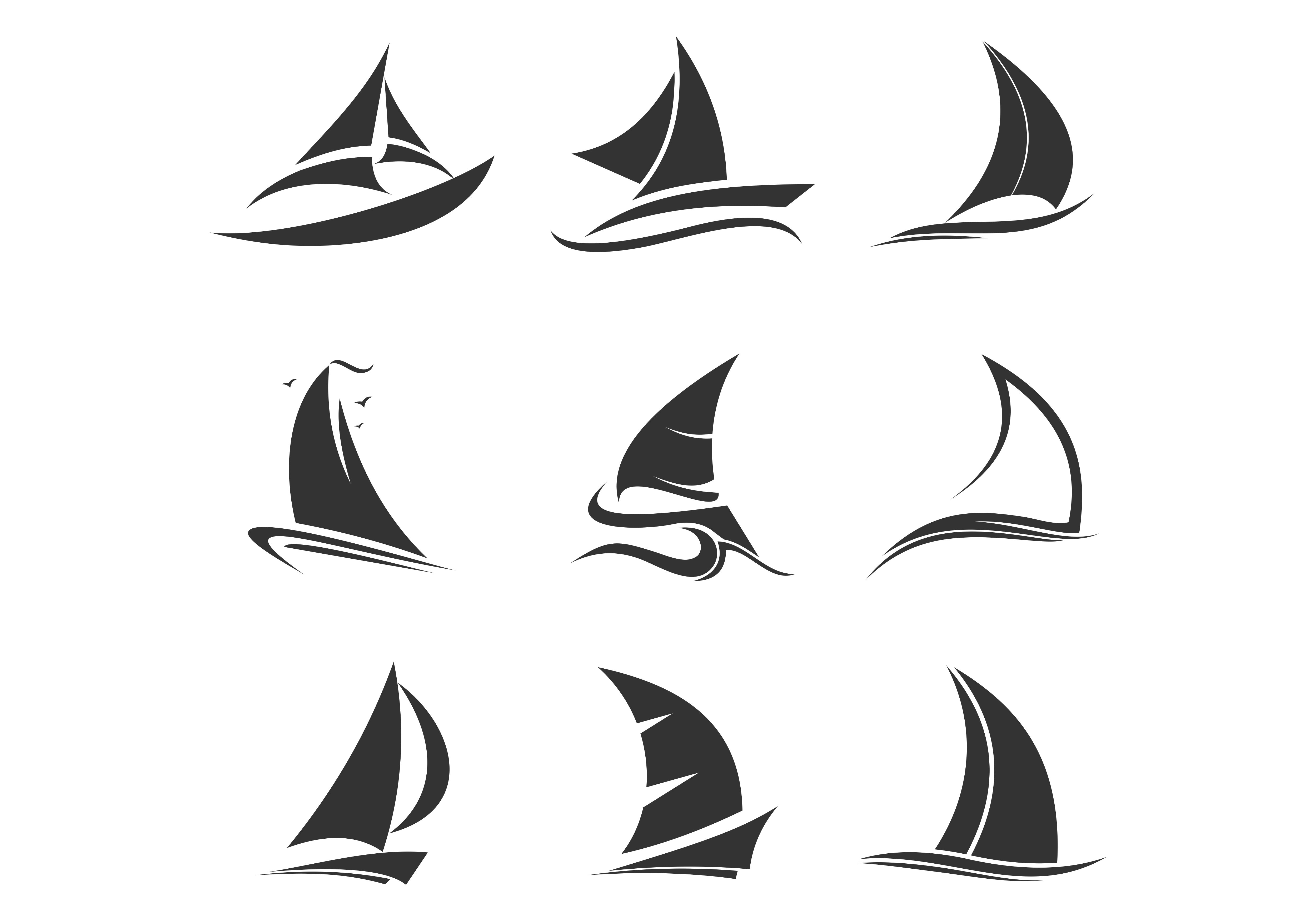 Sailing Ship, Sailing Boat Logo.