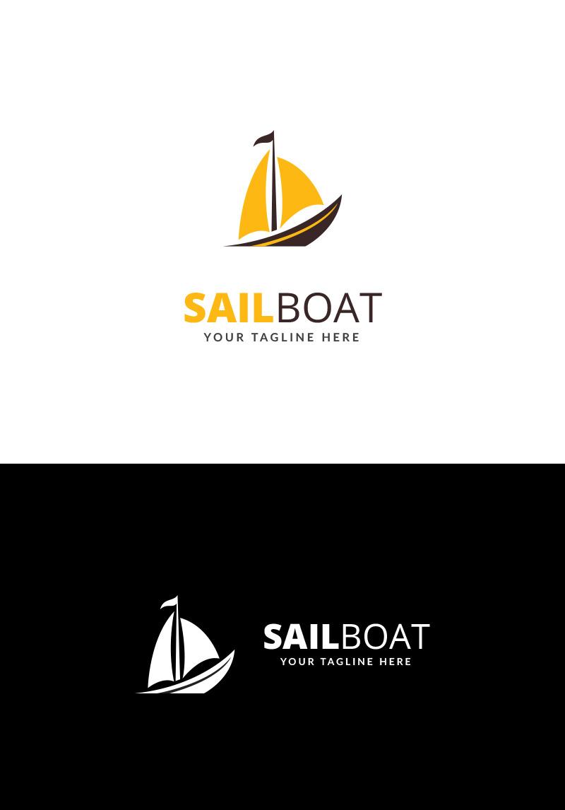 Sail Boat Logo Template.