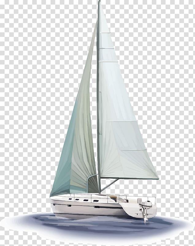 Sailboat illustration, Sailboat Sailing ship, Sailing boat.