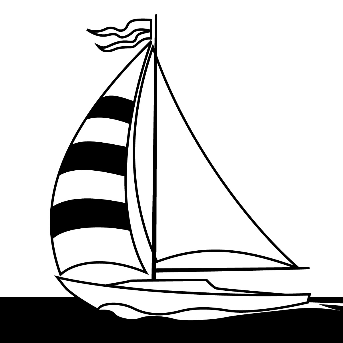 Sail On Sailboat Clipart.