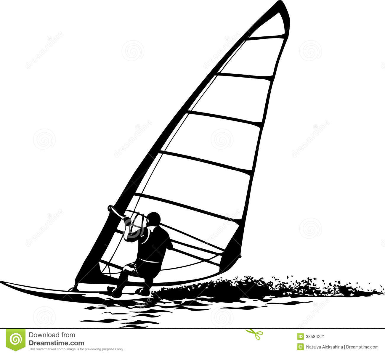 Windsurfer Stock Illustrations.