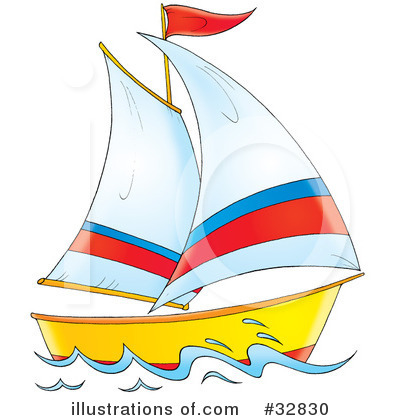 Sailboat Clipart #32830.