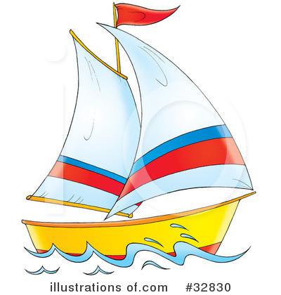 Sailboat Clipart #32830.