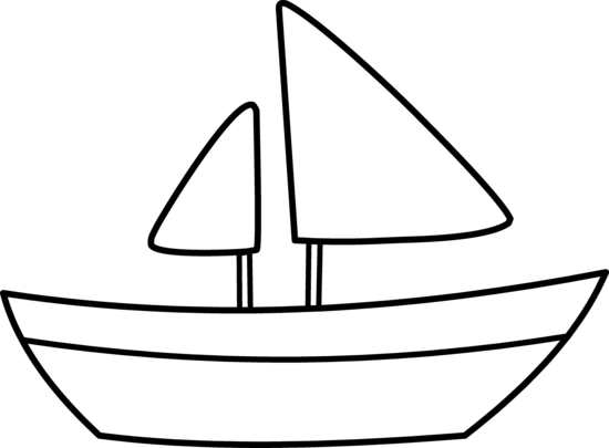 Sailboat Clip Art Black And White.