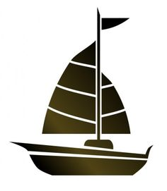 simple sailboat silhouette.