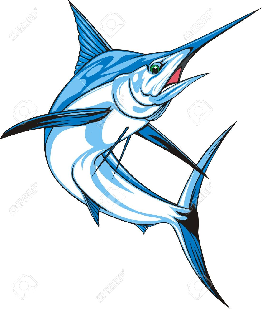 Sailfish clipart.