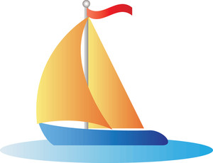 Sailing yacht clipart.