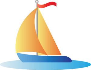 Sailing yacht clipart.