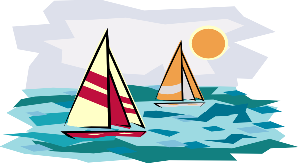 Two Sailboats In Sunset Clip Art at Clker.com.