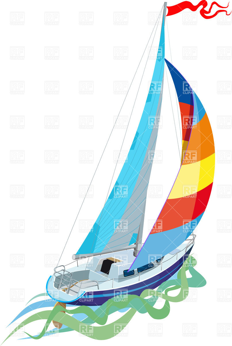 Free Graphics Vintage Roses: Yachting Clipart