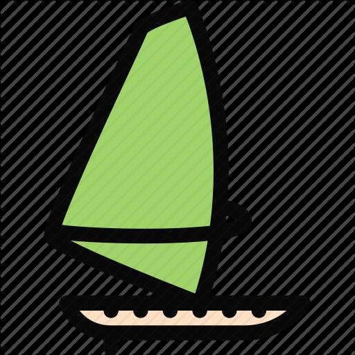 Equipment, gym, sport, training, windsurfing icon.