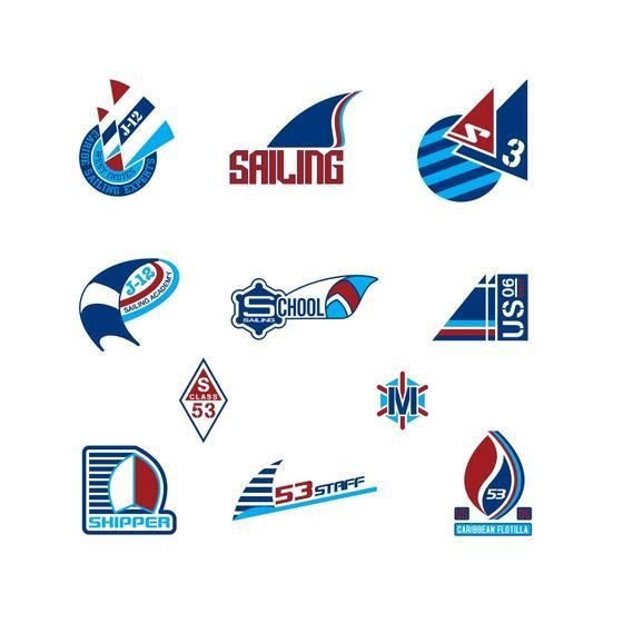 Sailing Logo Vector Pack.