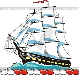Sailing Ship Clipart.