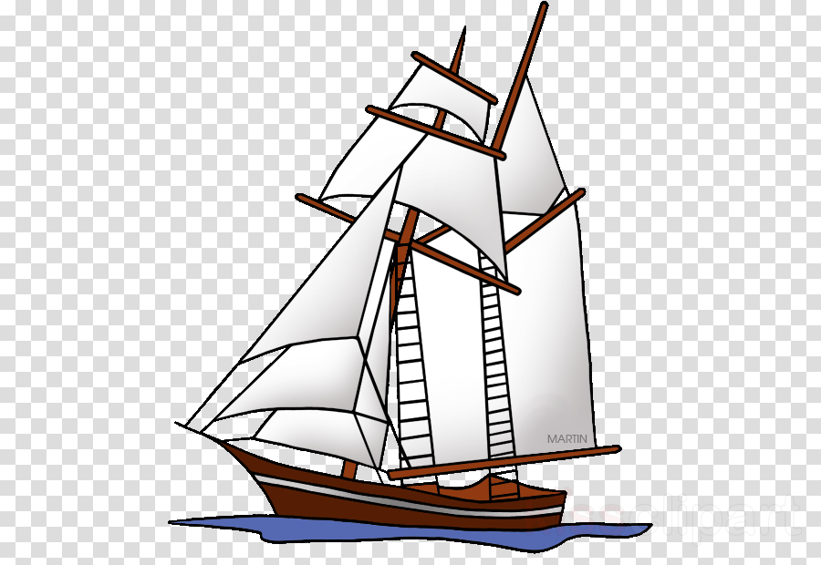 sailing ship mast boat vehicle tall ship clipart.