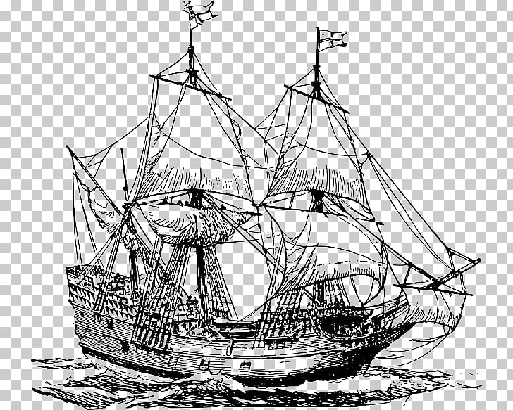 Sailing ship Carrack Caravel , Ship PNG clipart.