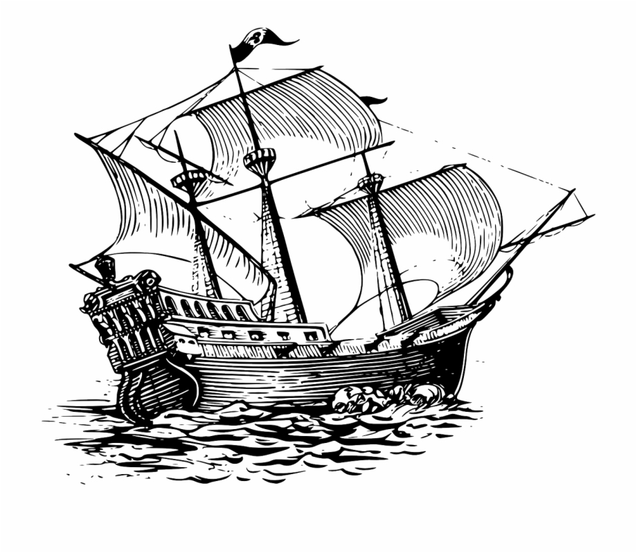 Galleon Sailing Ship Sail Ship Png Image.