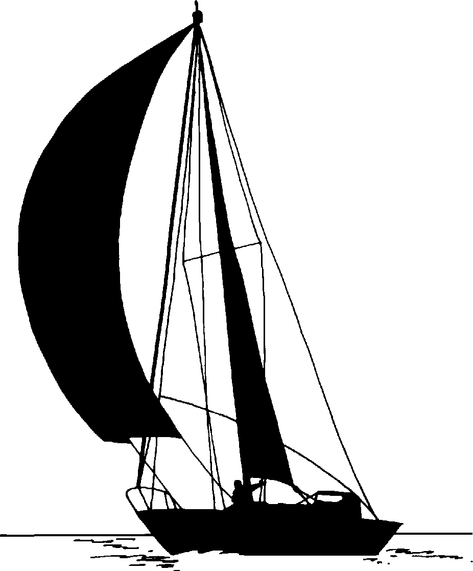 Art Line Yacht Design : Sailboat clipart black and white clipground