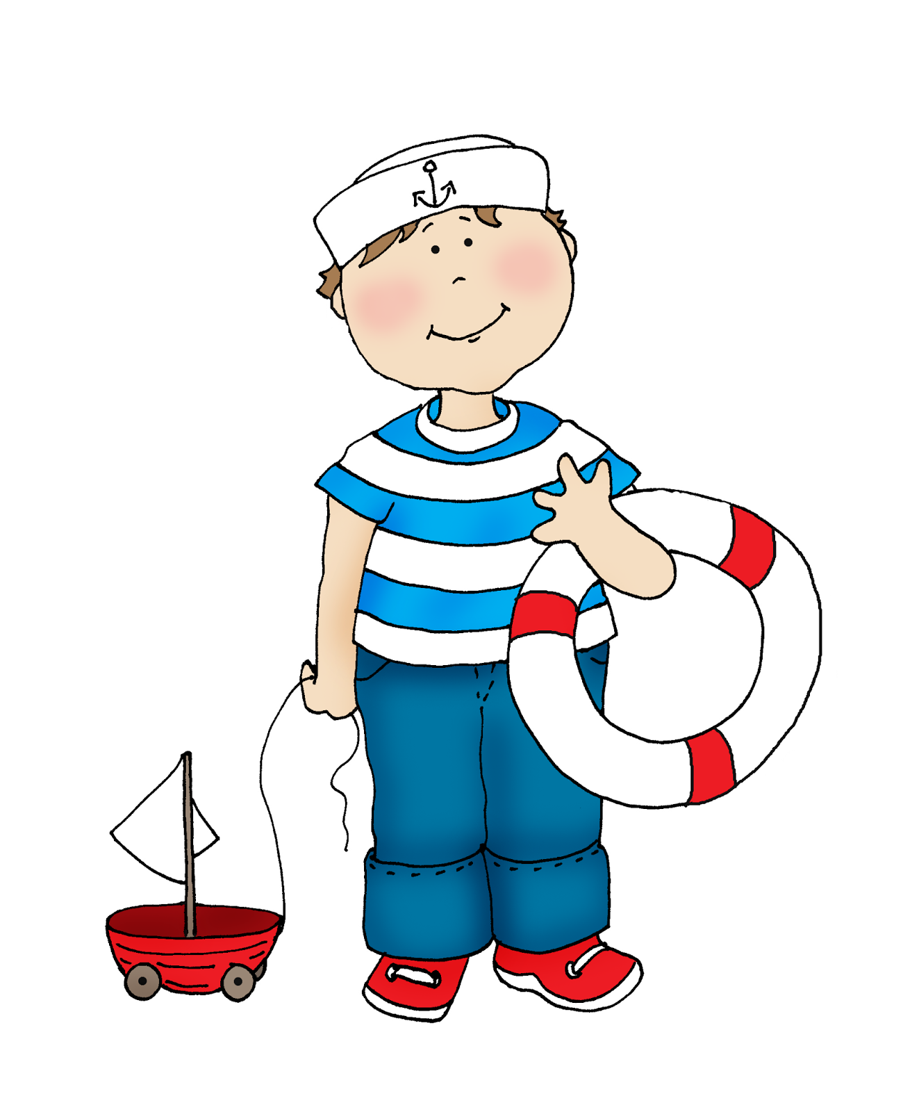 Sailor Boy (Free Dearie Dolls Digi Stamps).
