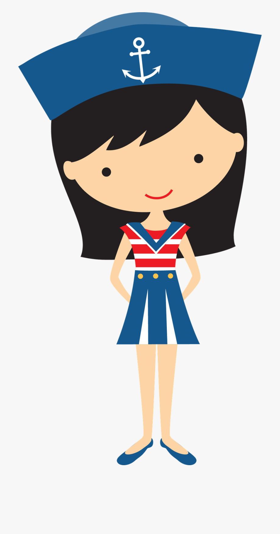 Black Haired Girl Sailor.
