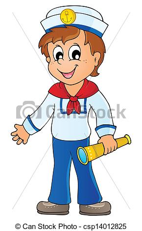Sailor At Sea Clipart.