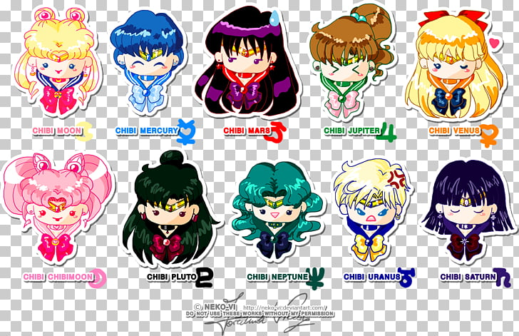 Sailor Moon Sailor Senshi Drawing Chibi Character, maneki.
