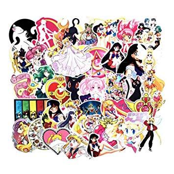 75Pcs/Pack Anime Sailor Moon Sticker Cartoon.