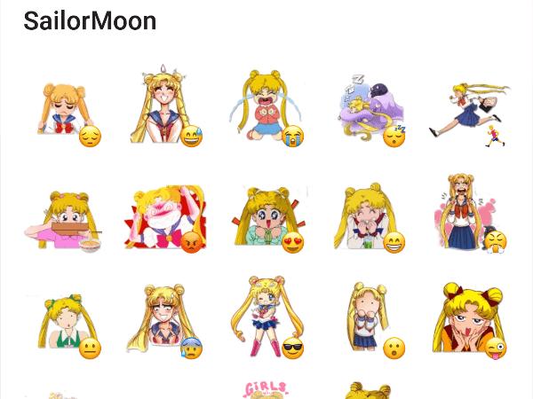 Sailor Moon Sticker Pack #Telegram #Stickers.