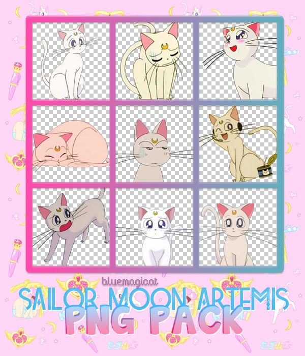 Artemis Sailor Moon PNG PACK by Bluemagicat on DeviantArt.