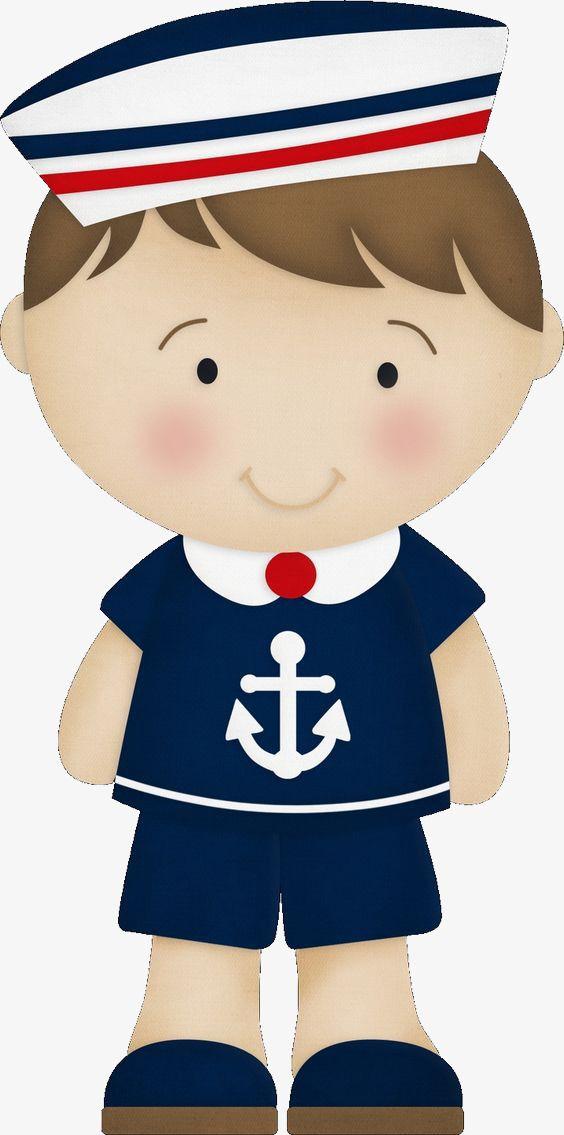 Cartoon Boy Wearing A Sailor, Cartoon Clipart, Boy Clipart.
