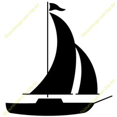 Clipart ship with sails silhouette.