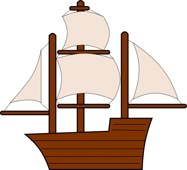 Unfurled Sailing Ship clip art Free vector in Open office drawing.