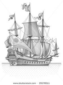 Sail Ship Clip Art Image.